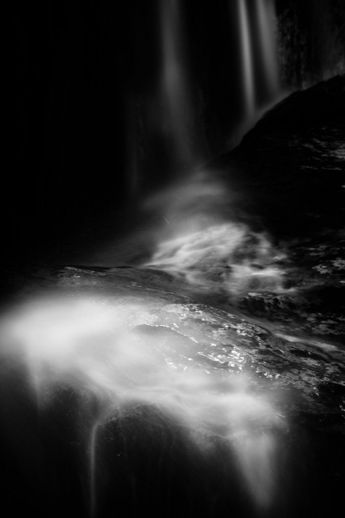 Black & White Waterfalls Variation 08